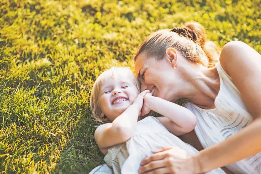 笑顔で子育てを楽しむ
