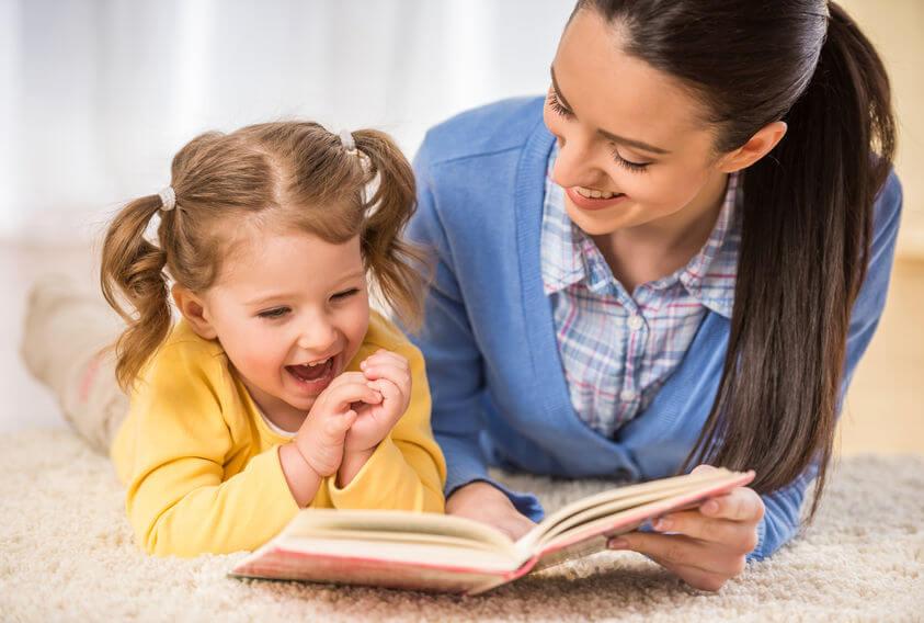 親が見本を見せる