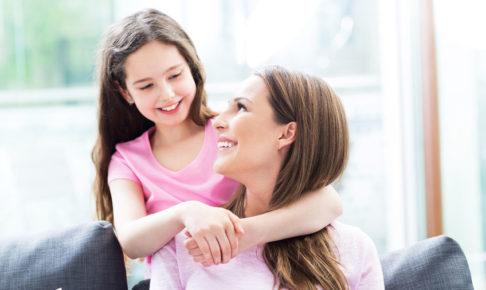 ペップトークする母と娘