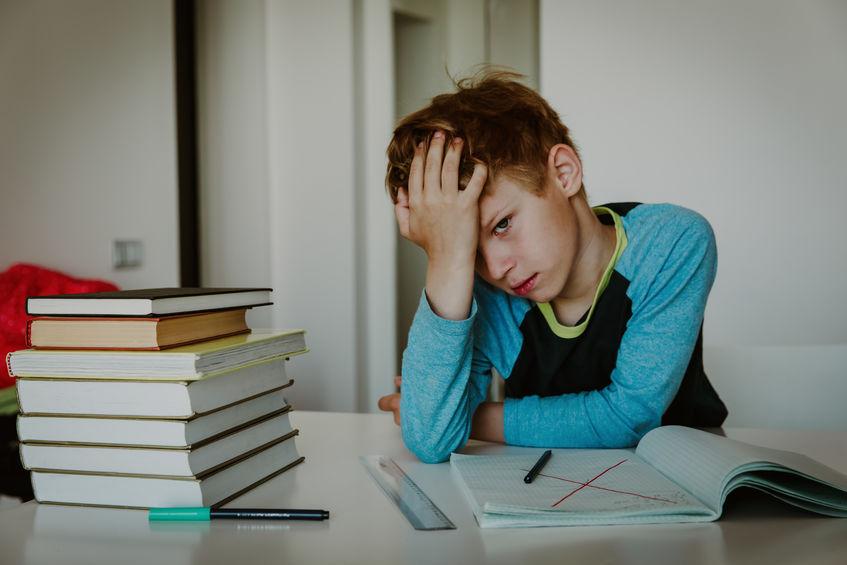 中学受験でストレスを抱えている子供