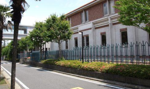 横浜共立学園中学校の校舎