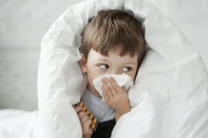 風邪気味の子供