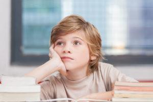 中学受験勉強に意識を向けていない子供