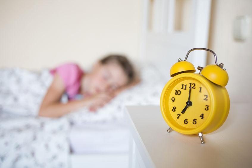 就寝中の子供