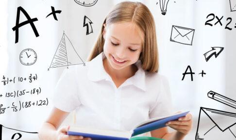 中学受験の勉強をする女の子