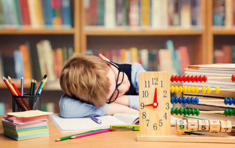 宿題をやりたくない小学生